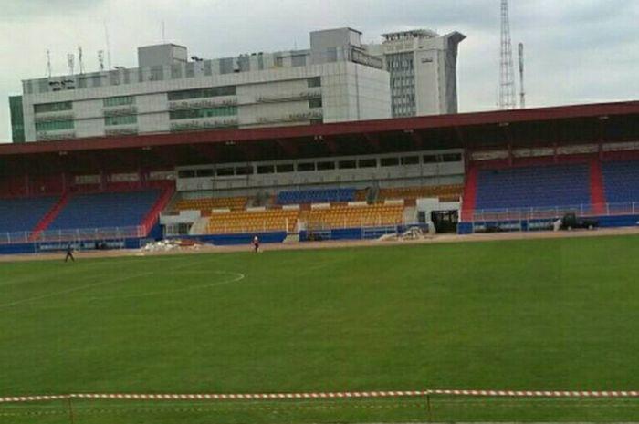Kondisi Stadion Madya Bumi Sriwijaya .