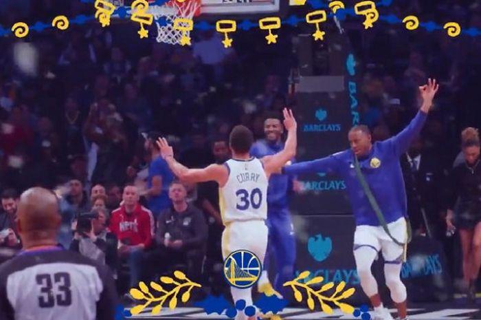 Cuplikan video yang dirilis Golden State Warriors jelang melakoni pertandingan NBA di hari Natal 2018 kontra LA Lakers.