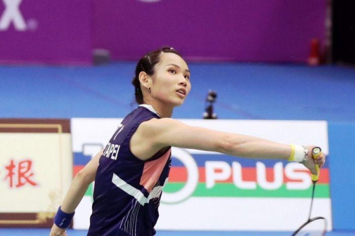Tai Tzu Ying (Taiwan) saat tampil di Chinese Taipei Open 2018.
