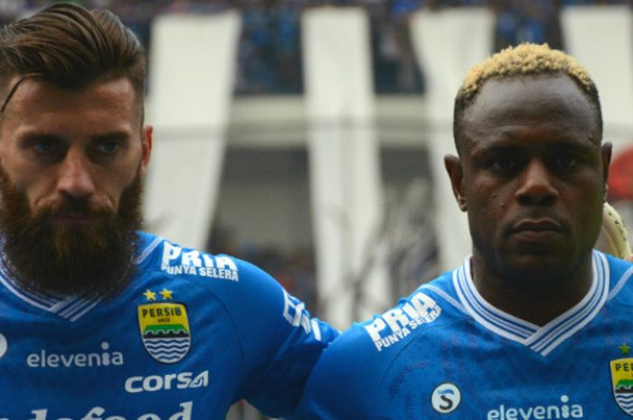 Duet bek tengah Persib Bandung di Liga 1 2018, Bojan Malisic asal Serbia dan Victor Igbonefo kelahir