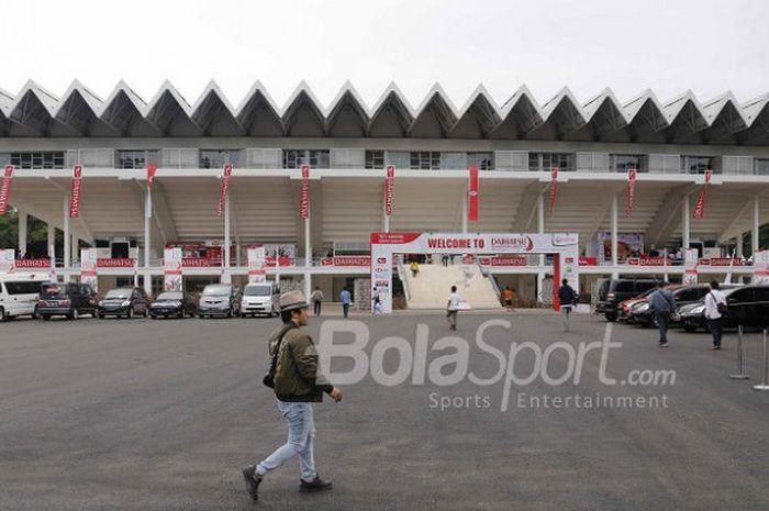 Kondisi Istora Senayan Jakarta pada penyelenggaraan Indonesia Masters 2018 pada 23-28 Januari.