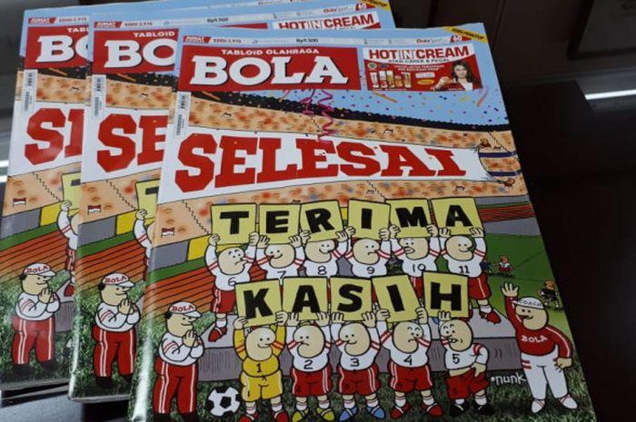 Cover edisi terakhir Tabloid BOLA yang terbit Jumat, 26 Oktober 2018.