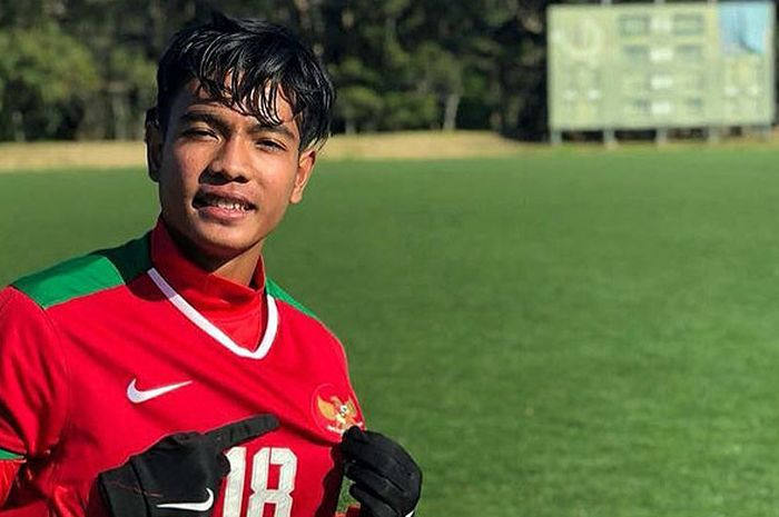 Gelandang timnas U-16 Indonesia, Brylian Naghieta Aldama.