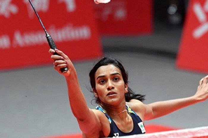 Pebulu tangkis tunggal putri India, Pusarla Venkata Sindhu, pada BWF World Tour Finals 2018 di Tianh