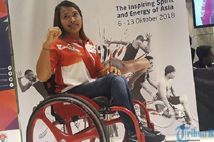 Ni Nengah Widiasih Atlet asal Bali menargetkan Emas dalam ajang Asian Para Games (APG). Widi ikut sosialisasi Panitia APG, INAPGOC di Level 21 Mall Denpasar Sabtu (23/12/2017).