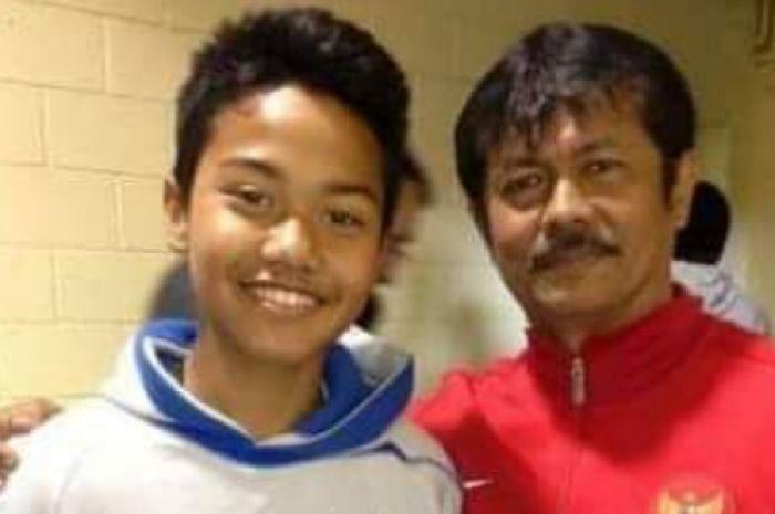 Andri Syahputra dan Pelatih Indra Sjafri