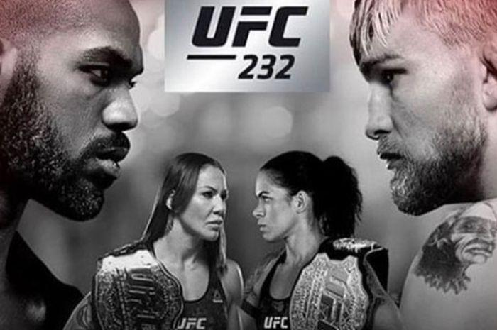 Poster UFC 232 yang bakal digelar pada Sabtu (29/12/2018) di The Forum, Amerika Serikat.