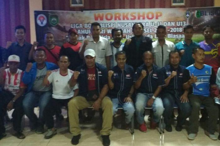 Suasana Sosialisasi Liga BOLA BLiSPI Regional Sumsel di Palembang, Selasa (5/12)
