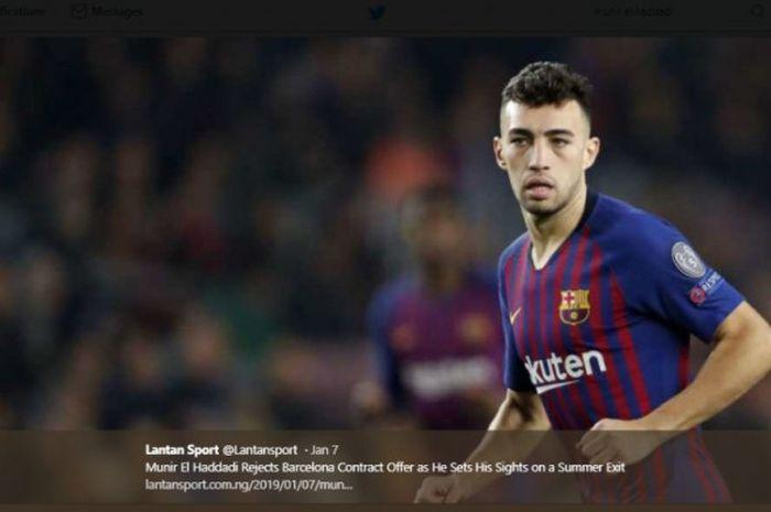 Munir El Haddadi, striker jebolan La Masia yang terpinggirkan di Barcelona
