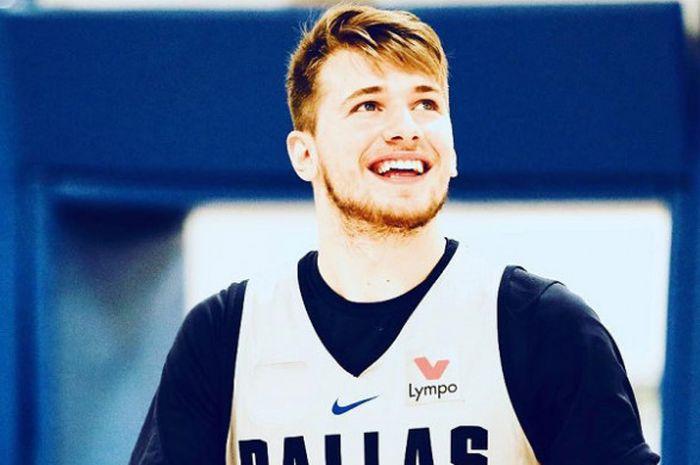 Luka Doncic saat menjalani latihan pramusim NBA bersama Dallas Mavericks.