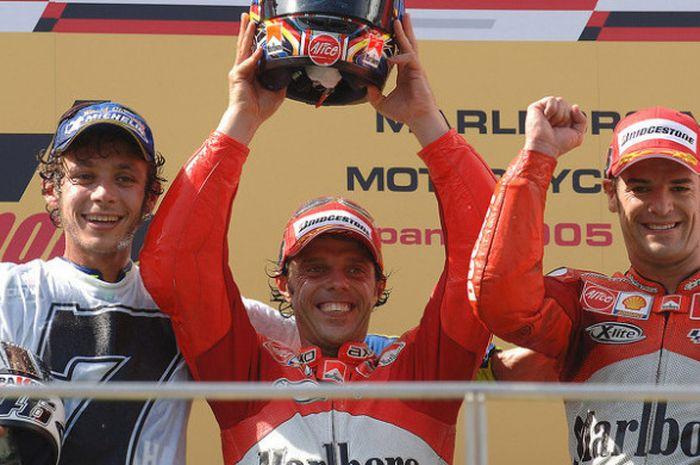 Valentino Rossi, Loris Capirossi, dan Carlos Checa.