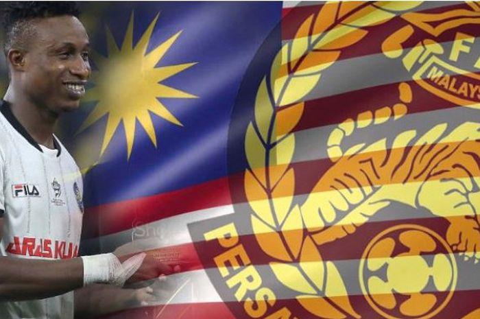 Mohamadou Sumareh, striker Pahang FA dan timnas Malaysia.