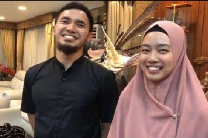 Pasangan kekasih atlet wushu, Achmad Hulaefi dan Lindswell Kwok.