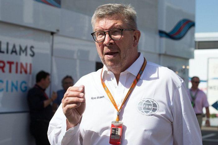 Managing Director Formula 1 (F1) Ross Brawn saat berada di area paddock Red Bull Ring, Spielberg, Au