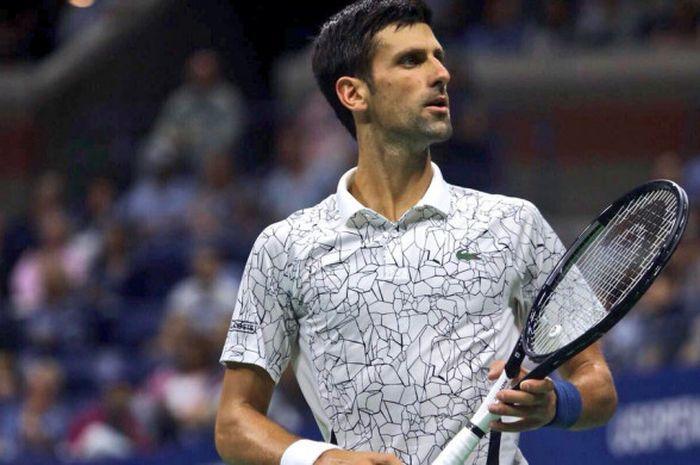 Novak Djokovic kala bermain pada laga semifinal US Open 2018 yang digelar Jumat (7/9/2018) malam waktu Amerika Serikat.