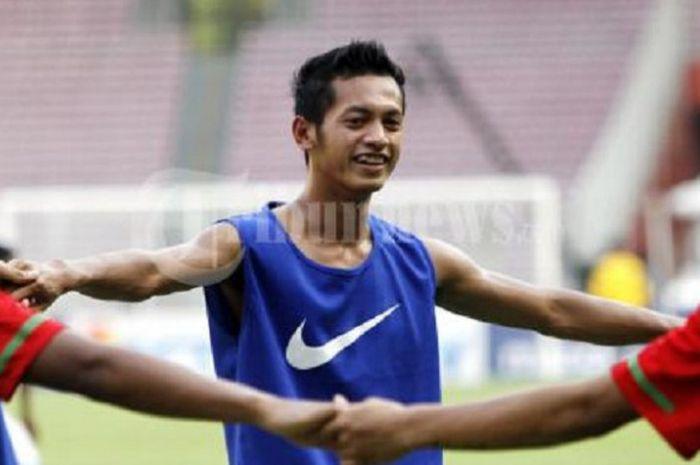 Yongki Aribowo saat berseragam timnas Indonesia di Piala AFF 2010