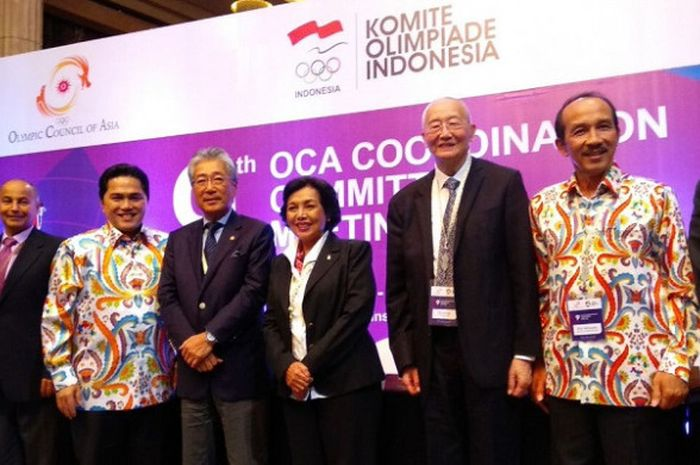 Inasgoc menggelar Coordination Committee Meeting IX terkait Asian Games 2018 di Hotel Indonesia Kempinski, Jakarta, Rabu (9/5/2018).