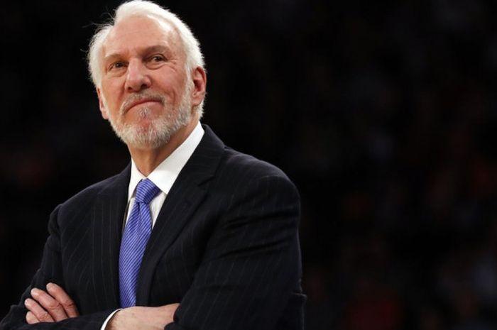 Pelatih kepala San Antonio Spurs, Gregg Popovich.