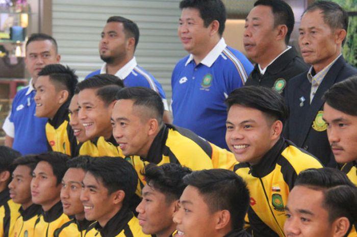 Skuat Timnas U-19 Brunei Darussalam saat bersiap menuju Korea Selatan