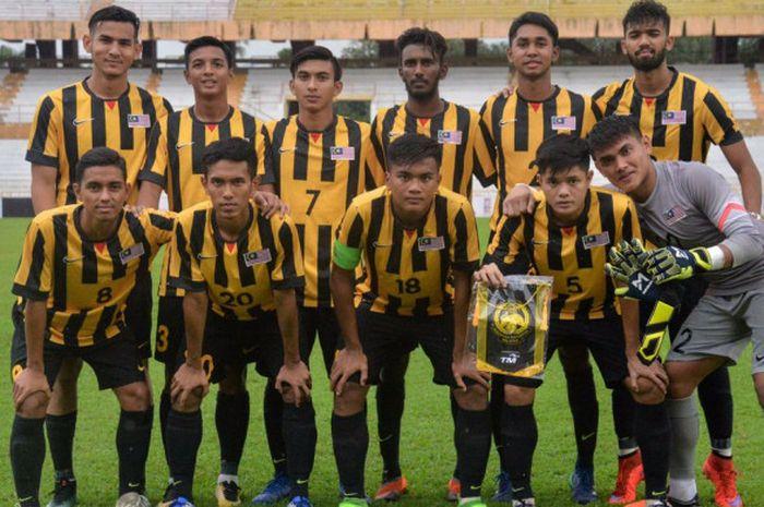 Timnas U-19 Malaysia jelang laga kontra timnas U-19 UEA pada uji coba jelang Piala Asia U-19 2018, 1