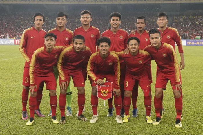 Susunan pemain utama Timnas U-16 Indonesia pada laga melawan India dalam laga Grup C Piala Asia U-16 2018, 27 September 2018.