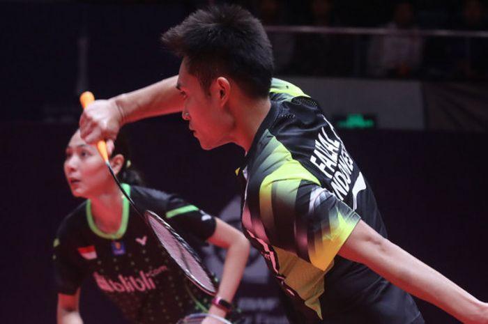 Ganda campuran Indonesia di BWF World Tour Finals 2018, Hafiz Faizal dan Gloria Emanuelle Widjaja.