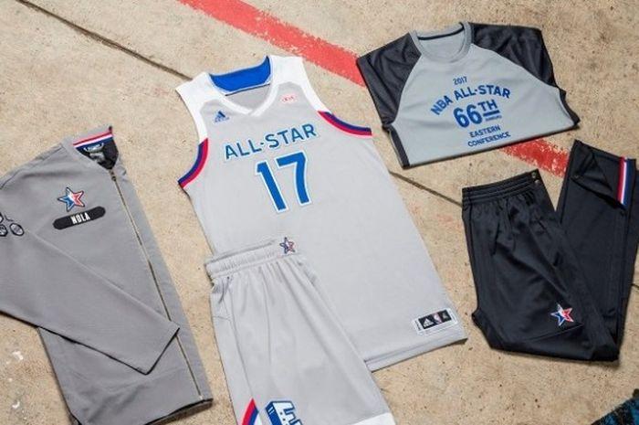 Jersey yang akan digunakan tim Wilayah Timur pada NBA All Star 2017.