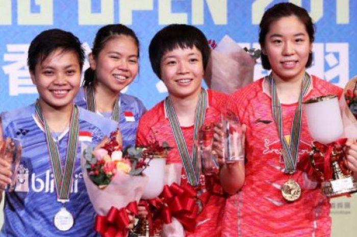 ganda putri China, Chen Qingchen/Jia Yifan berhasil menjadi juara Hong Kong Open 2017 setelah mengal