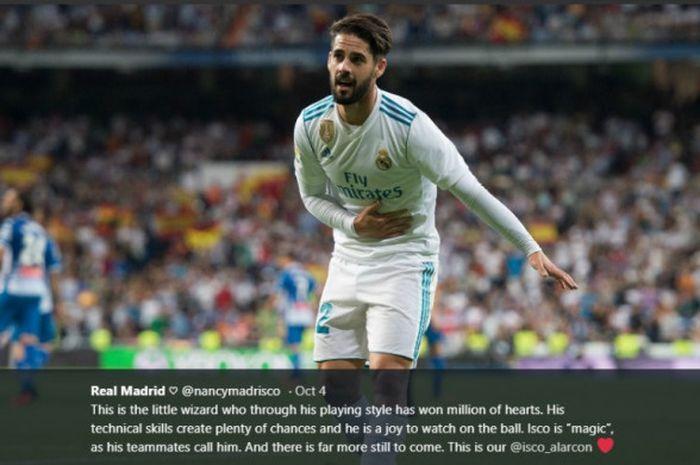 Isco tidak akan dipaksa pelatih sementara Real Madrid, untuk bermain. Isco sedang menjalani pemulihan pasca operasi usus buntu.