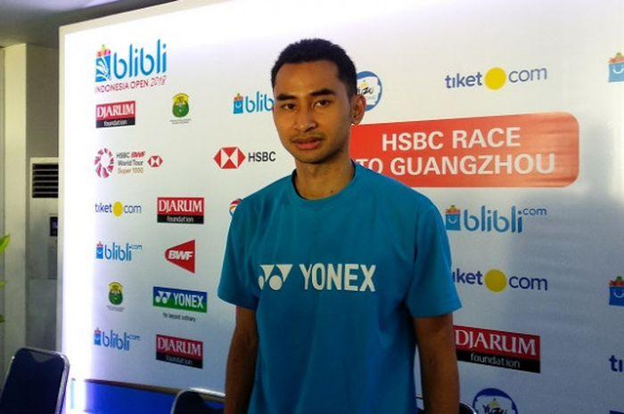 Pebulu tangkis tunggal putra Indonesia, Tommy Sugiarto.