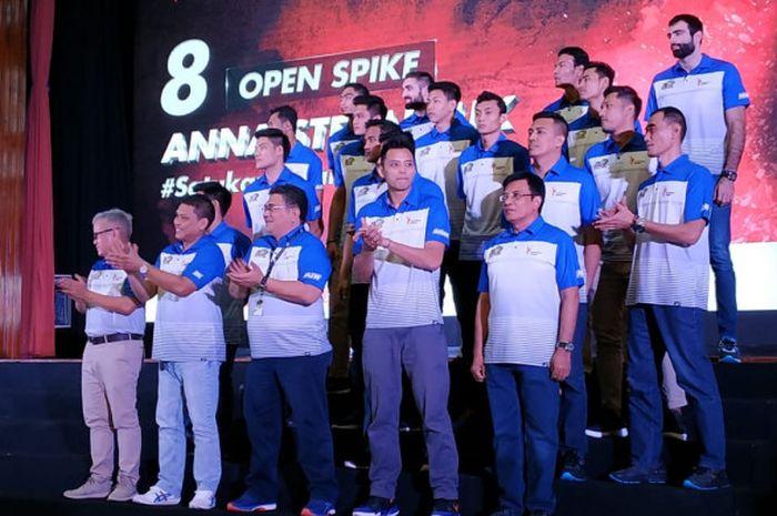 Tim bola voli putra Jakarta Pertamina Energi resmi diluncurkan di Kantor Pusat Pertamina, Jakarta, Kamis (22/11/2018).