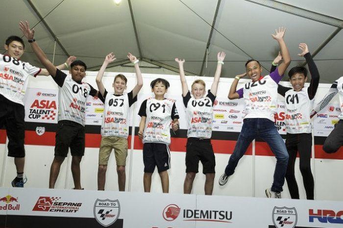Delapan pebalap yang terpilih untuk mengikuti Asia Talent Cup 2019.