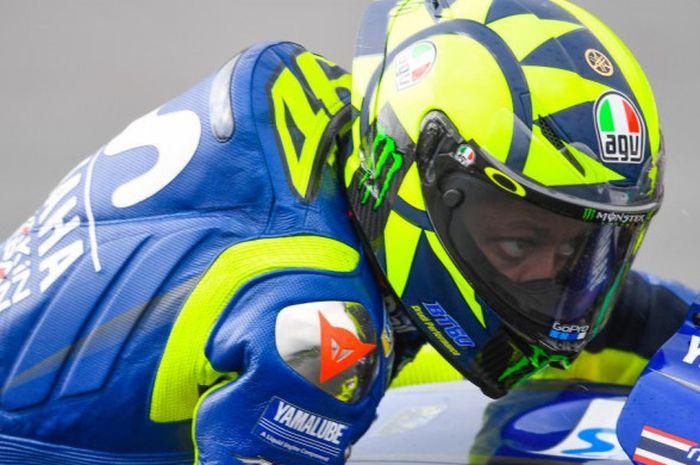 Pebalap Movistar Yamaha, Valentino Rossi, saat tampil pada balapan MotoGP Austria di Red Bull Ring, Minggu (12/8/2018).
