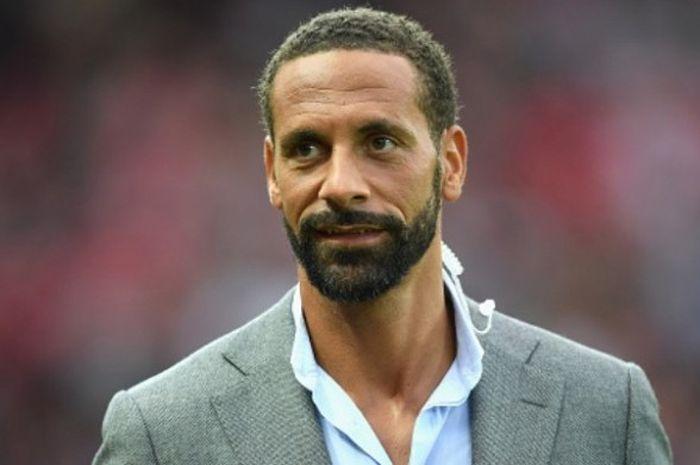 Legenda Manchester United, Rio Ferdinand, hadir di laga testimonial mantan rekan setimnya, Wayne Roo