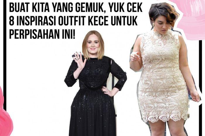 Inspirasi fashion kece buat yang bertubuh gemuk