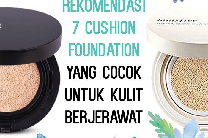 rekomendasi cushion foundation untuk kulit berjerawat