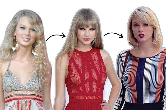 Wow! Ini Transformasi Gaya Fashion Taylor Swift Sejak Tahun 2006 Hingga 2017