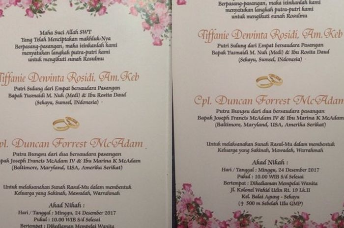 Contoh Undangan Pernikahan Orang Tua Cerai