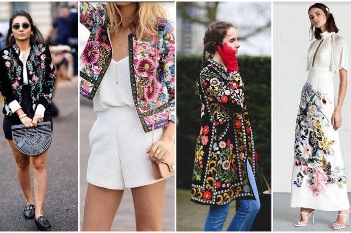Fashionista bisa siap-siap mengeluarkan koleksi busana bordirnya di tahun 2018 ini. Kenapa? Karena embroidery dress bakal jadi tren mode di awla tahun.