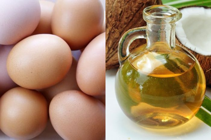 Telur dan minyak kelapa