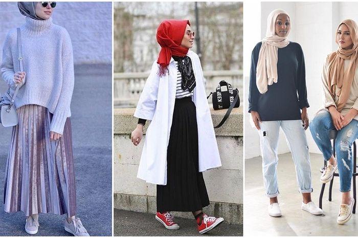 Tips Gaya Hijabers Kasual Sporty Yang Keren Dengan Sneakers Mudah