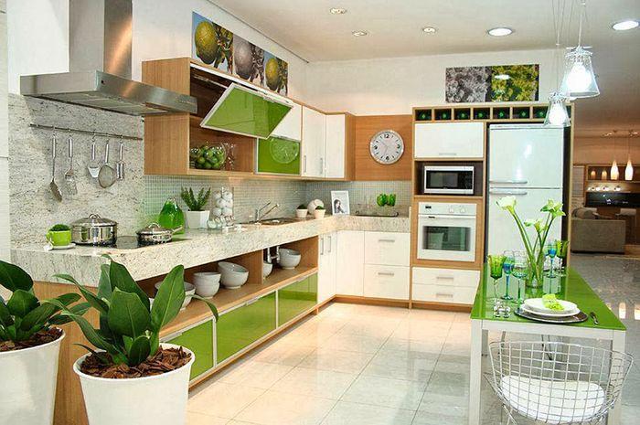 4 Inspirasi Desain Dapur Yang Dilengkapi Tanaman Bisa
