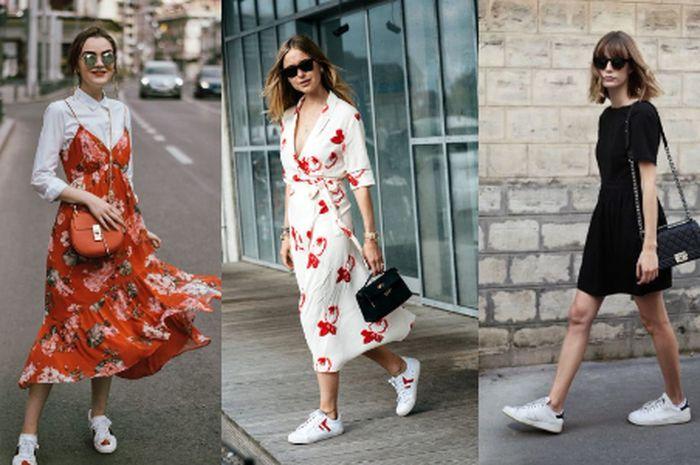 Mix And Match Dress Dengan Sepatu Sneakers Kenapa Nggak Semua