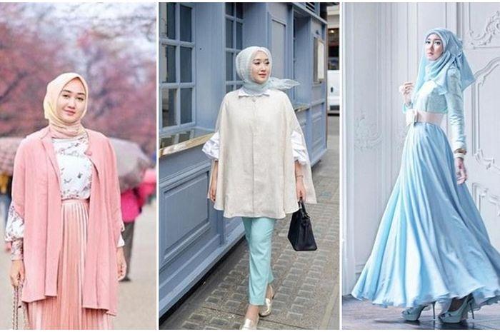 5 Padu Padan Busana Hijab Nuansa Pastel Ala Dian Pelangi Yang Bisa