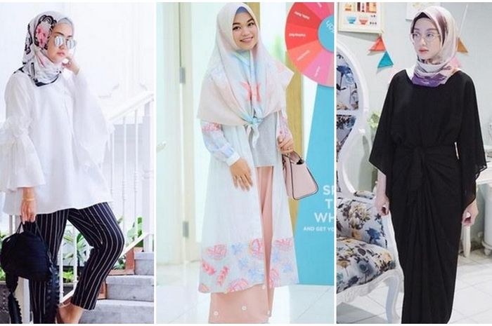 Biar Kekinian Contek Nih Gaya Padu Padan Hijab Scarf Motif Ala