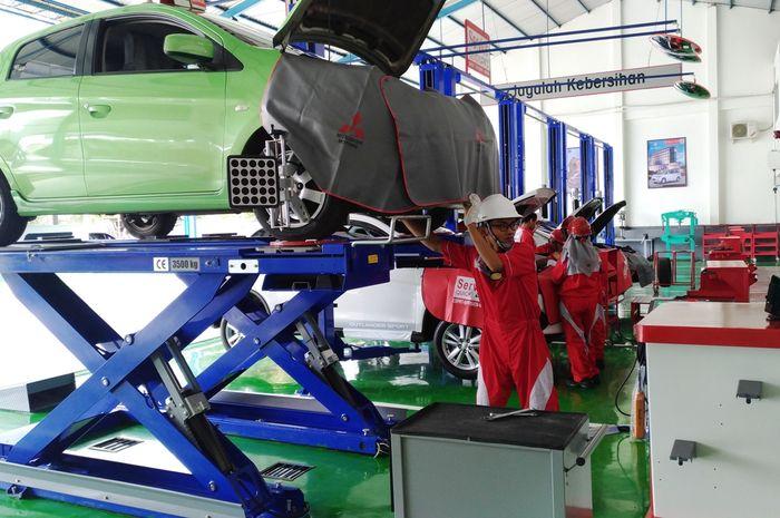 Fasilitas bengkel Mitsubishi Diler Purwokerto