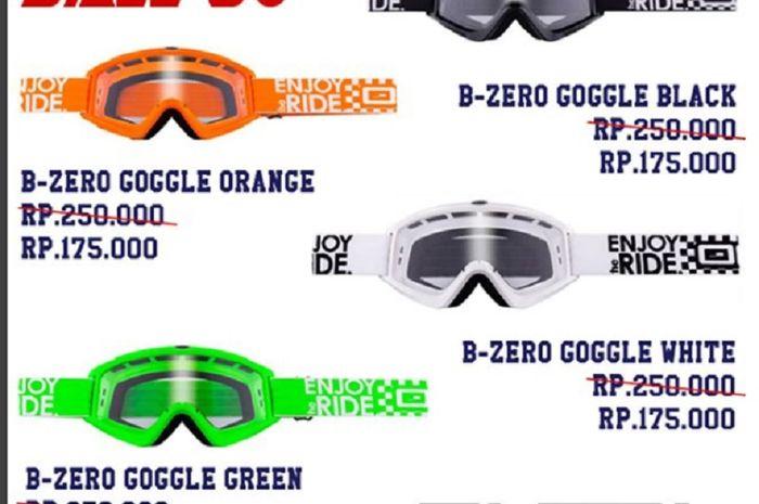 Toko Juara Nasional 7 Kali Motocross Kasih Diskon 30% untuk Goggle ... 01d513c8b2