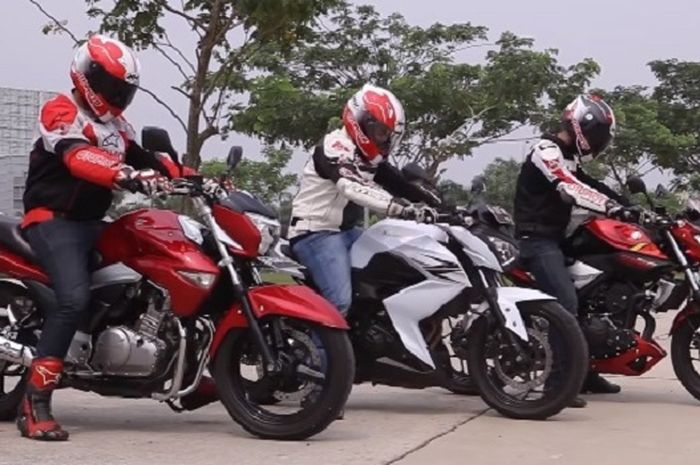 Kawasaki Z250, Yamaha MT-25 & Suzuki Inazuma, Nih Naked Bike 250 Seken