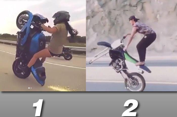 Sangar yang mana nih aksi wheelie-nya?