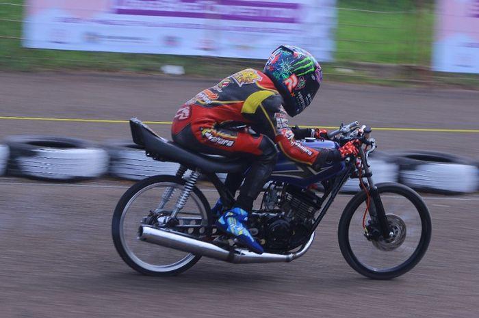 Event drag bike jelang perayaan ulang tahun Tangerang Selatan.